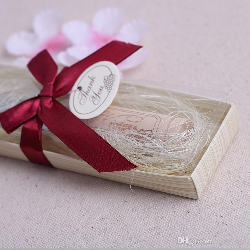 Edelstahl Spreader mit Weinkorken Griff Buttermesser Hochzeit Gefälligkeiten und Geschenken Baby Shower Gefälligkeiten mit Box LZ1863