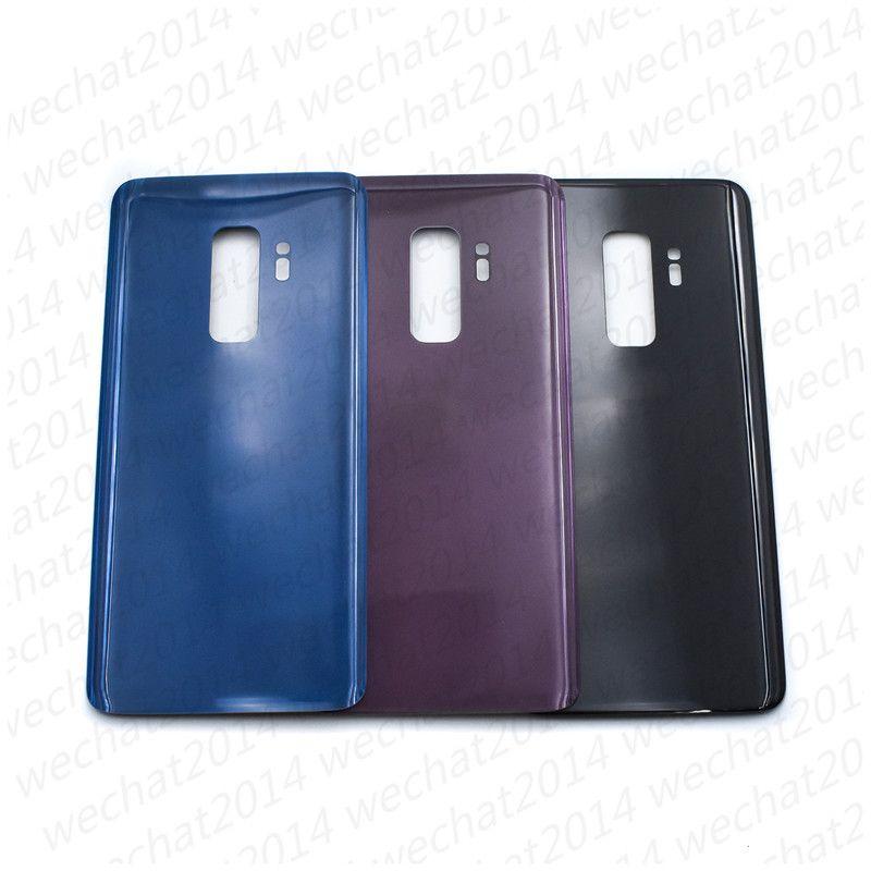 100 ADET Pil Kapı Arka Konut Kapak Cam Kapak Samsung Galaxy S9 Artı G960F G965F Yapıştırıcı Sticker ile