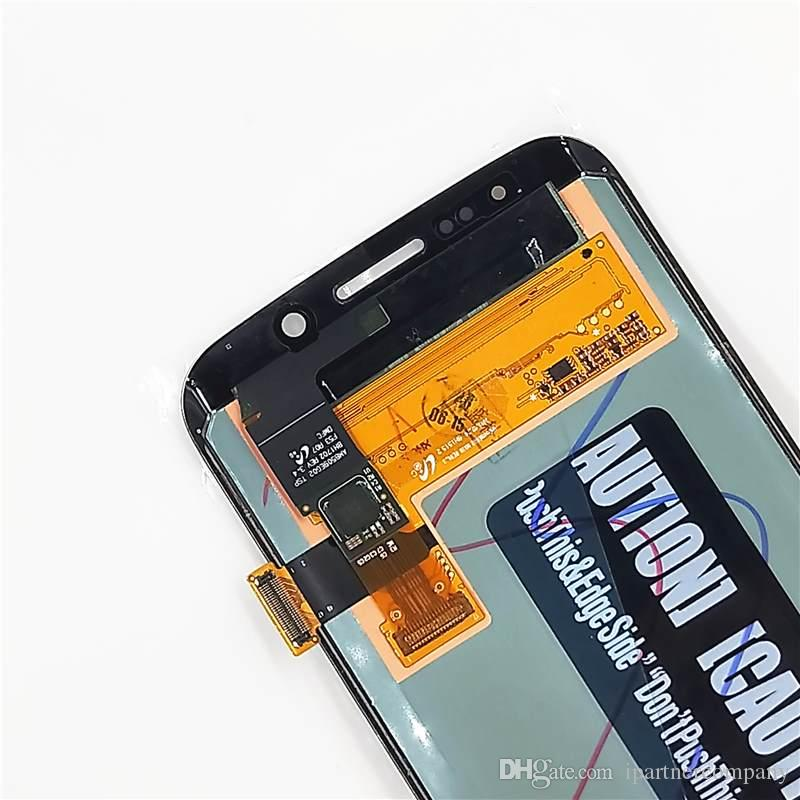 For Samsung Galaxy S6 edge G925F LCD Display with Touch Screen digitizer assembled with free repairing tools