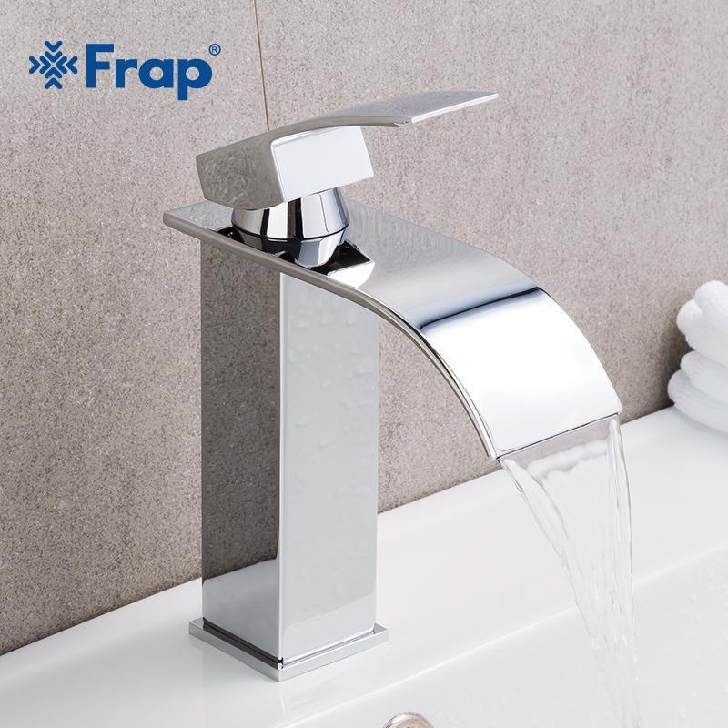 2018 Frap Hot Sale Basin Vanity Sink Faucet Single Handle Waterfall ...