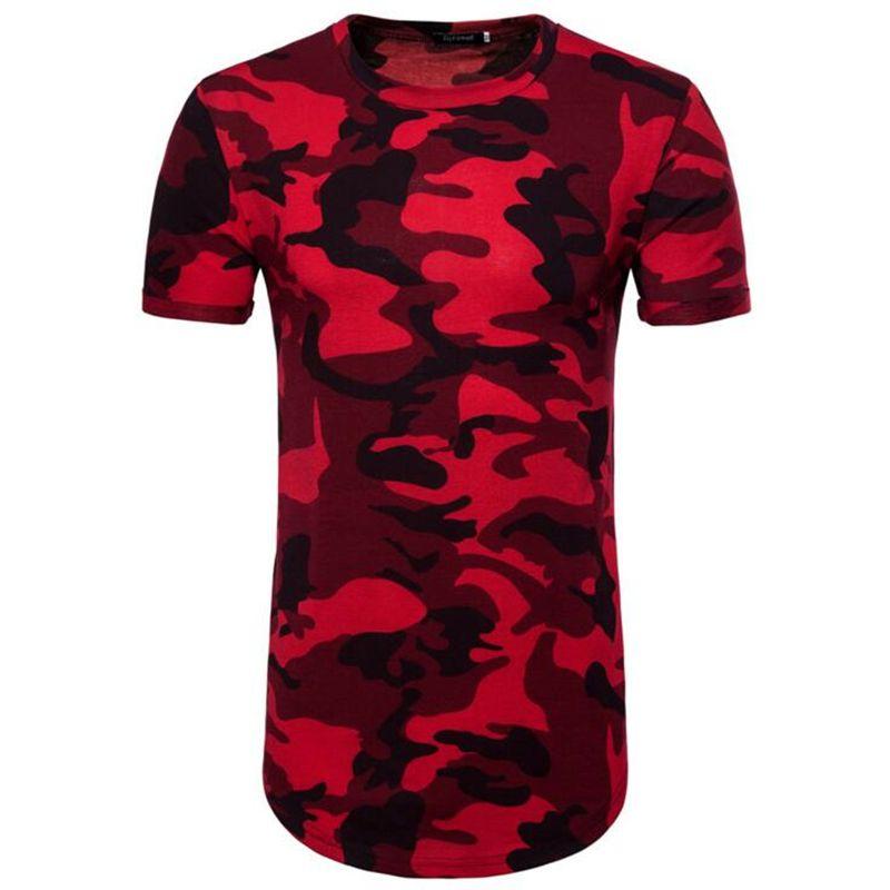 2f7298a6 Fashion Summer European Size Camouflage Tshirt Men Hip Hop T Shirt High  Street Mens T Shirts Harajuku Long Section Camisetas Hombre Funny Political T  Shirts ...