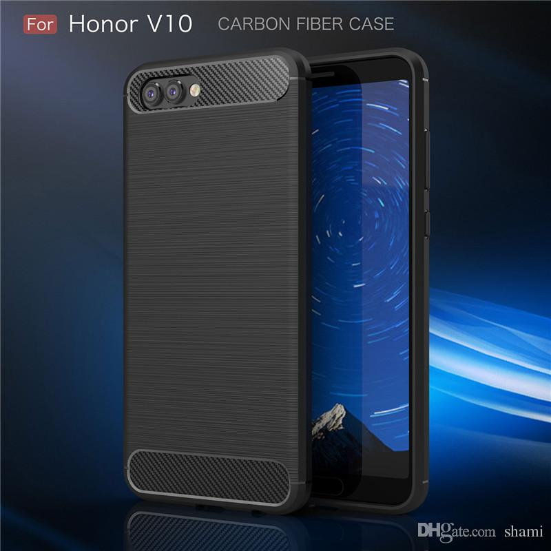 more photos deca7 3a687 for huawei honor v10 case Carbon Fiber Brushed Texture phone case  Environmental slim Hybrid Super rugged armor caus for huawei p9 lite mate9