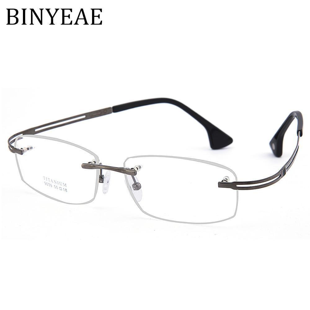 Compre Binyeae Marca Gafas De Titanio Gafas Transparentes Marcos De ...