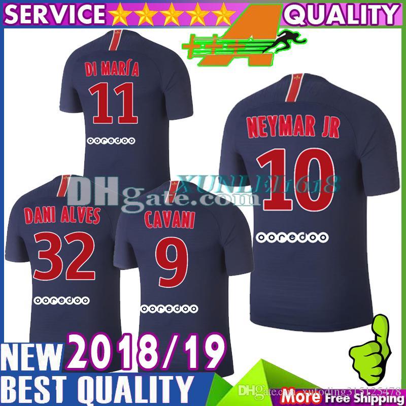 NEW Thai Top Quality Di Maria Soccer Jersey 2018 2019 PASTORE Mbappe NEYMAR  JR Soccer Jerseys 18 19 CAVANI Football Shirts UK 2019 From  Xufoding315125478 54e2a68be