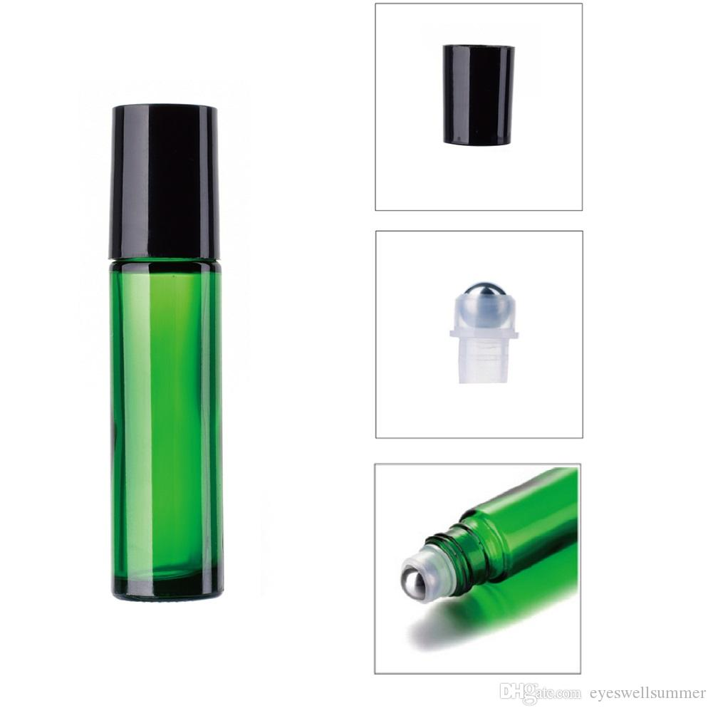 10ML Empty Roll on Glass Bottles With Metal Ball Best Quality STAINLESS STEEL ROLLER 10ml 1/3oz Clear Color Glass Roller Bottle