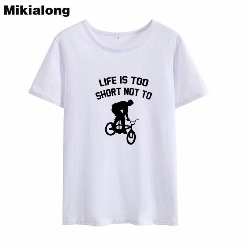 eb4f11b07e9c6 Women's Tee Mrs Win Life Is Too Short Not To Fashion Woman Tshirts Cotton  Black White T Shirt Woman Cotton Casual O - Neck Women Tees Tops