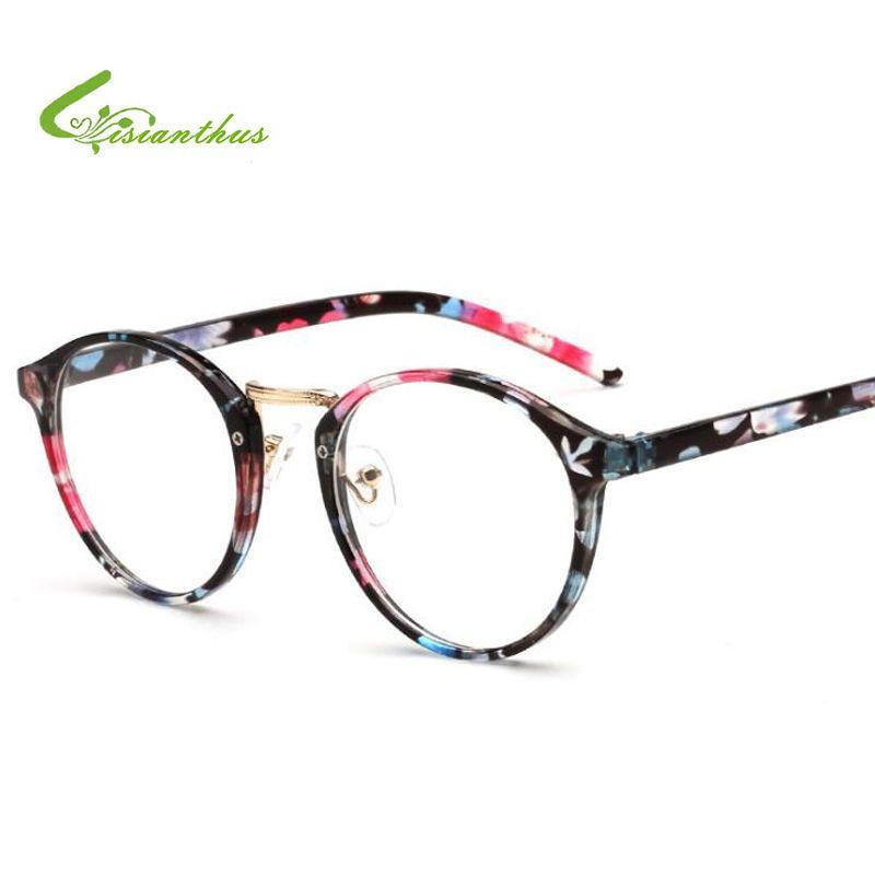ec9e09bae3 2018 Women Men Clear Glasses Vintage Round Eyewear Frames Brand Designer Retro  Optical Glasses Frame Eyeglasses Best Sunglasses For Men Vuarnet Sunglasses  ...