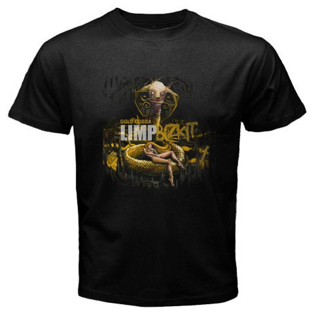 cb2425663 New LIMP BIZKIT *Gold Cobra Alternative Rock Men'S Black T Shirt Size S To  3XL Funny Unisex Casual Tee Gift Top Awesome Tshirt Designs 10 T Shirts From  ...