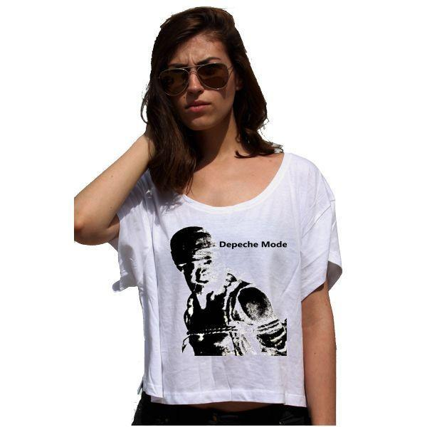 c2640c8e053eb4 Depeche Mode Just Can't Get Enough Lady 80'S Cotton Touch T-shirt Damen  Crop Top