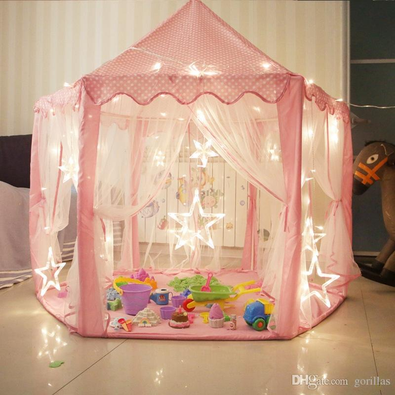 Portable Folding Princess Castle Tent Princess Tent Girls Large Playhouse Kids Castle Play Tent For Children Indoor And Outdoor Playhouse Ga Baby Tent House ... & Portable Folding Princess Castle Tent Princess Tent Girls Large ...