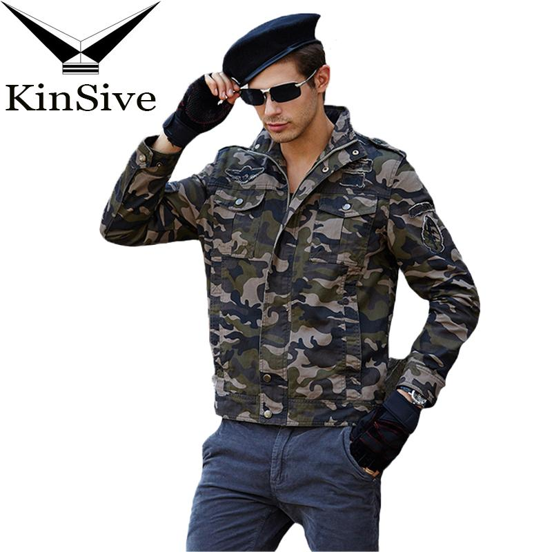 e68ee071ab99d Tactical Jacket Style Militar Jeans Male Soldier Camo Jacket Men's Pilot  Army Camouflage Bomber Coats