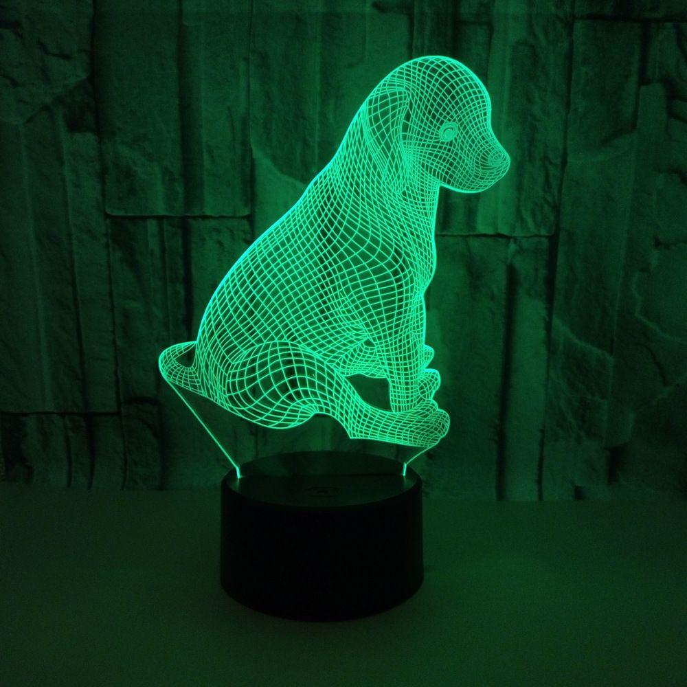Acheter nouvel animal chiot chien 3d night light colorful touch led lampe de table cadeau ambiance personnalisée petit lampe de bureau éclairage décor à la
