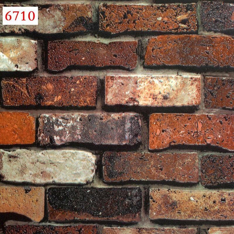 timeless design df41c 8e8d5 Retro 3D Convex Three Dimensional Brick Pattern Wallpaper Clothing Store  Restaurant Brick PVC Waterproof Wallpaper Clean Free Wallpapers For Pc Free  ...