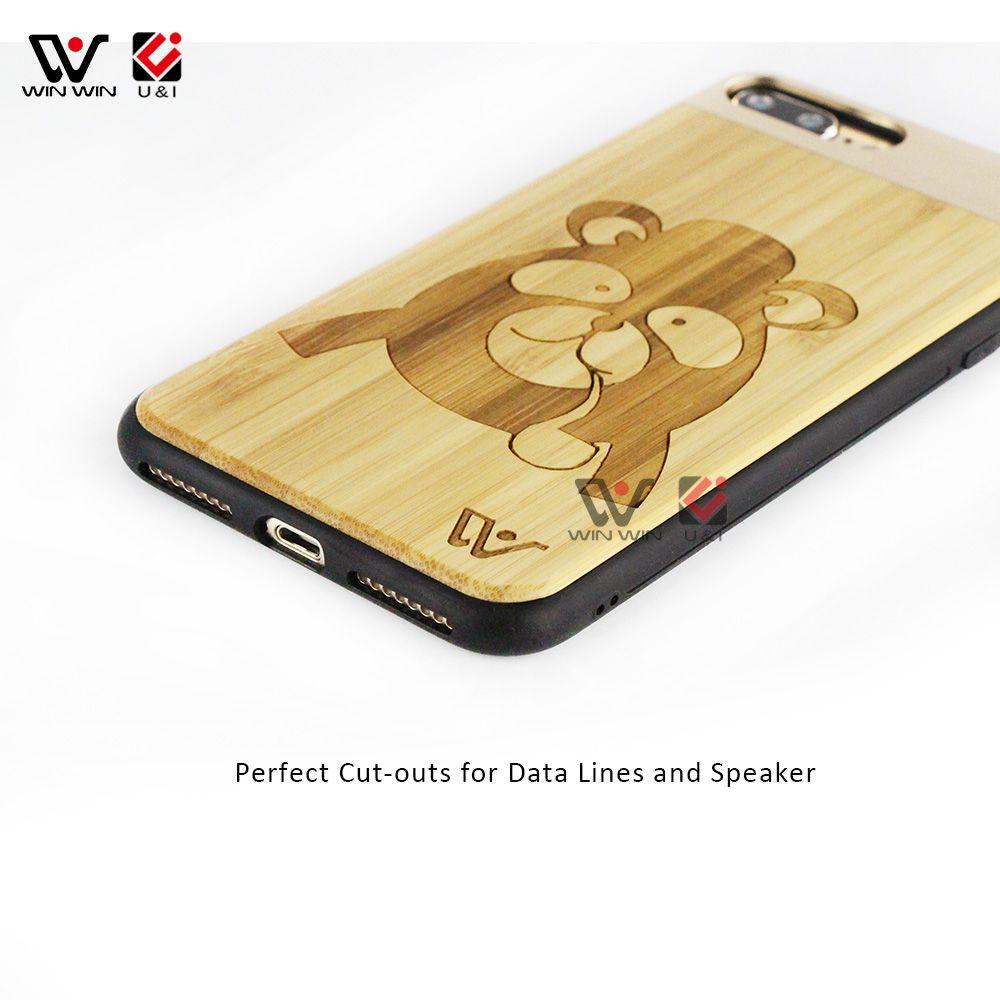 Multi design wood aluminum metal hard case for iPhone 6 6s , luxury bamboo walnut wooden tpu case for Apple i Phone 6 s