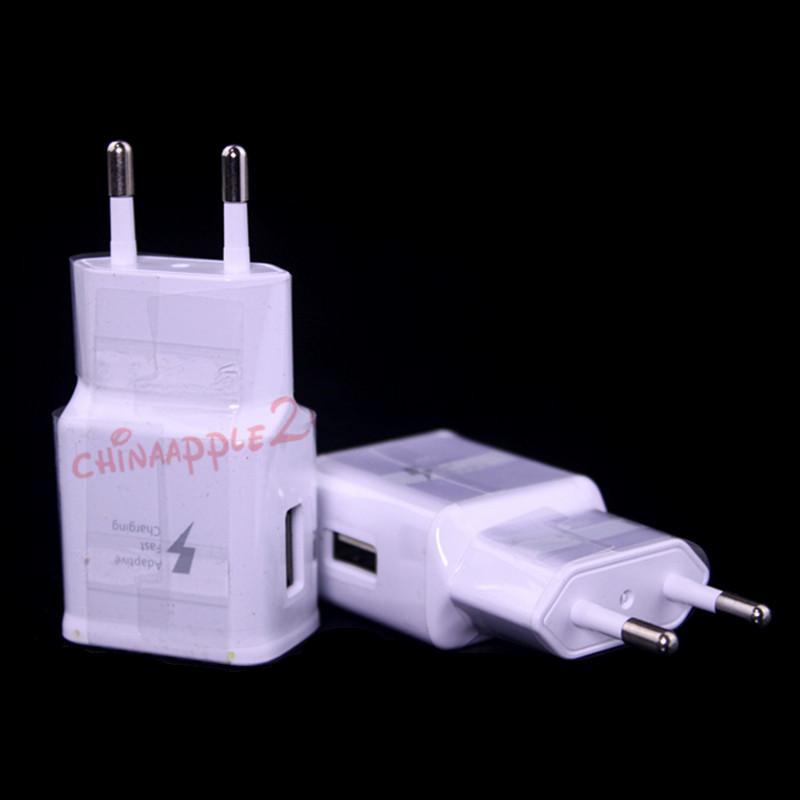 De carga rápida Cargador de Red Principal UE nos 5V 2Apower adapor para Samsung S4 S6 S7 nota 4 5 para el iphone 5 6 GPS Mp3