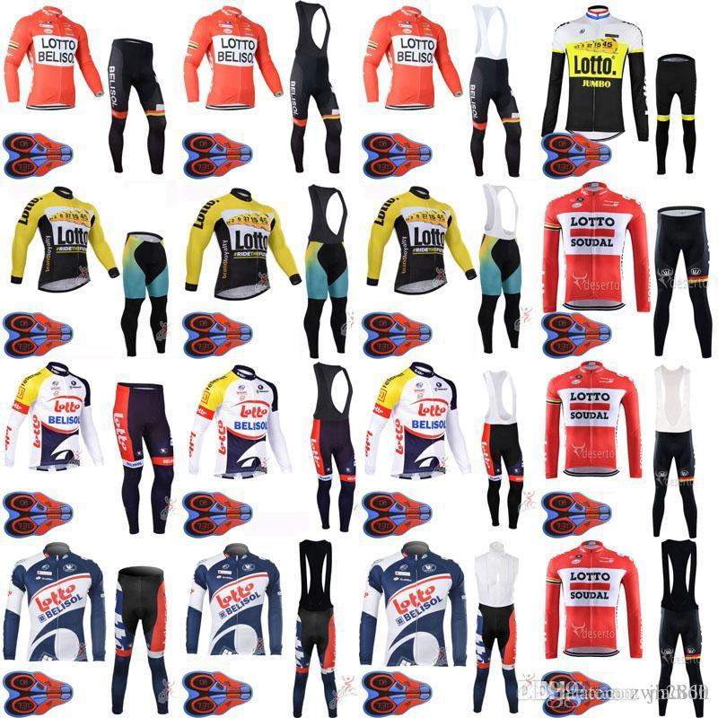 a55550dc0 NEW-LOTTO Team Cycling Long Sleeves Jersey Bib Pants Sets Hombre ...