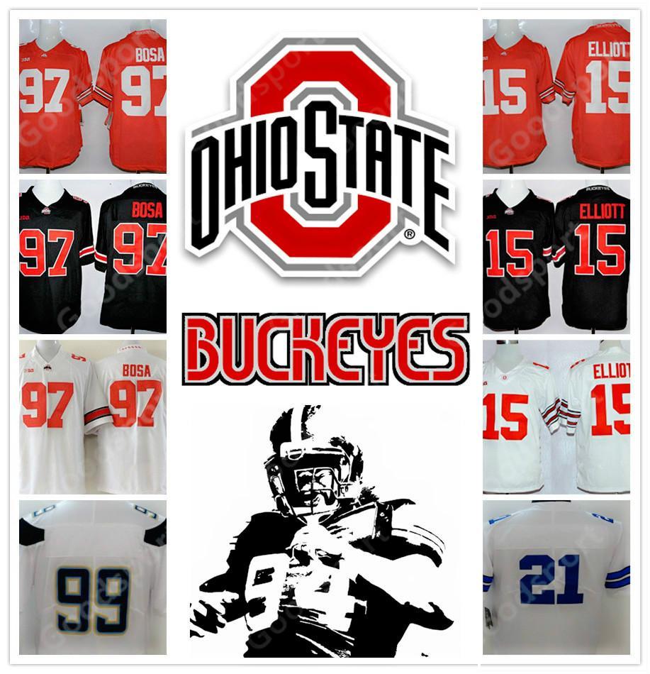 49107b036 Ohio State Buckeyes NCAA Jersey FASHION 2 J.K Dobbins 97 Joey Bosa ...