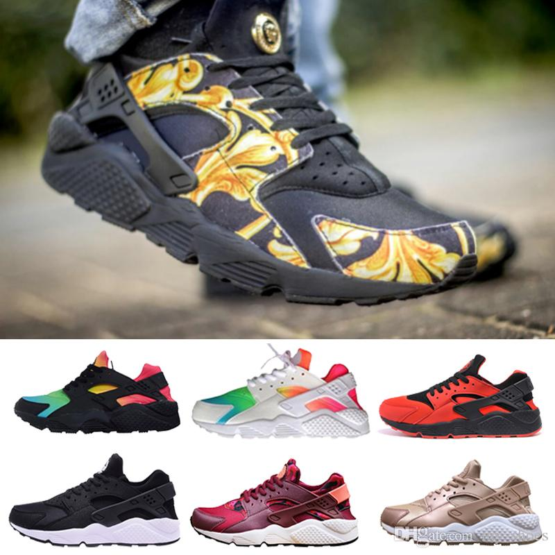 04278a1a6a8 2019 New Air Huarache Running Harache Shoes Huaraches Rainbow Ultra Breathe  Shoes Mens Womens Huraches 2018 Hurache Sneakers Sport Trainers 36 46 From  ...