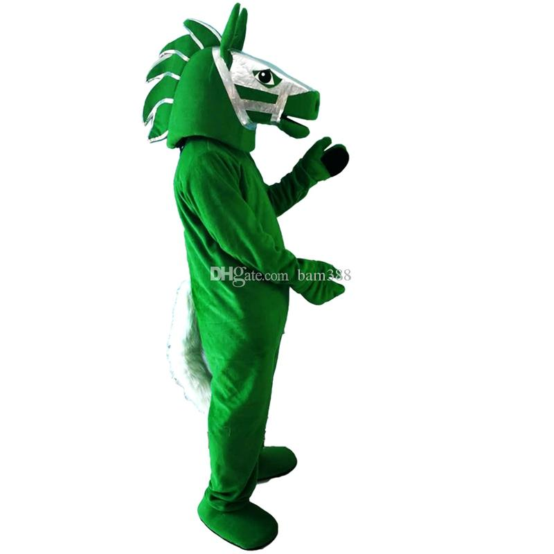 2018 New High Quality Green Horse Mascot Costumes for Adults Circus Christmas Halloween Outfit Fancy Dress Suit Mascot Costume Cartoon Online with ...  sc 1 st  DHgate.com & 2018 New High Quality Green Horse Mascot Costumes for Adults Circus ...