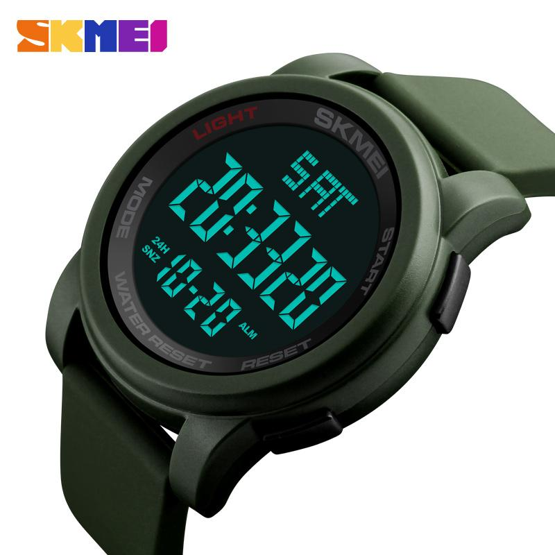 negozio online cff55 9689f SKMEI Orologi da uomo di marca LED digitale orologio da polso da uomo nero  allarme 50 m impermeabile sport orologi per uomo relogio masculino 1257