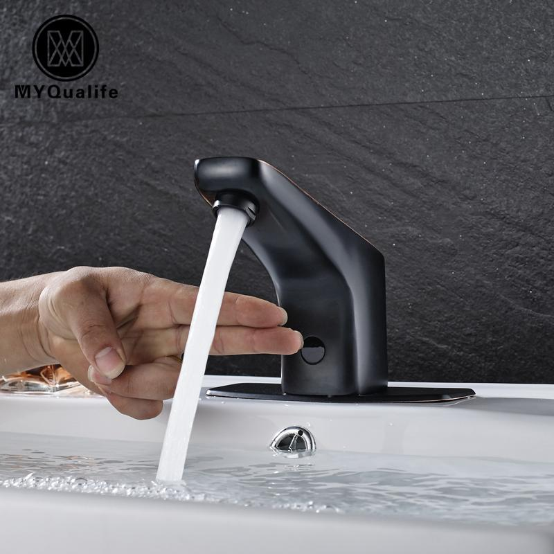 2018 Black Color No Handle Sense Faucets Water Saving Only Cold ...