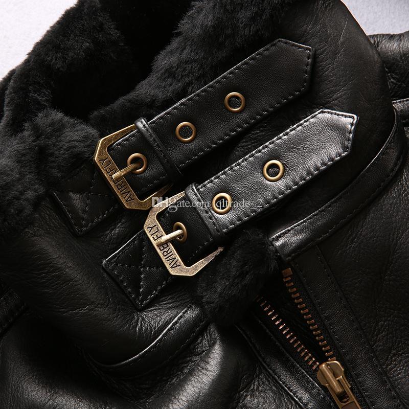 Giubbotto da motociclista nero Avirex fly USA B3 air force flight jacket 2013 volanti in vera pelle di montone giacche AVIREX