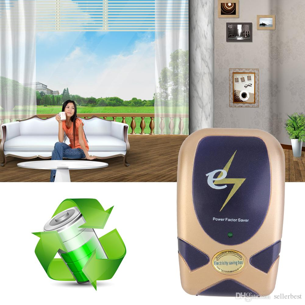EU/UK/US Electronic Energy Power Saver Plug Home Use Save Electricity New Digital Power Energy Saver Device 90V-240V PlUG