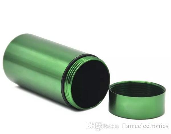 المياه والدليل خبأ حالة خبأ زجاجات تخزين مربع مع المطاط الهواء ضاغط الألومنيوم محكم اسطوانة حبوب منع الحمل مربع ل عشب التبغ
