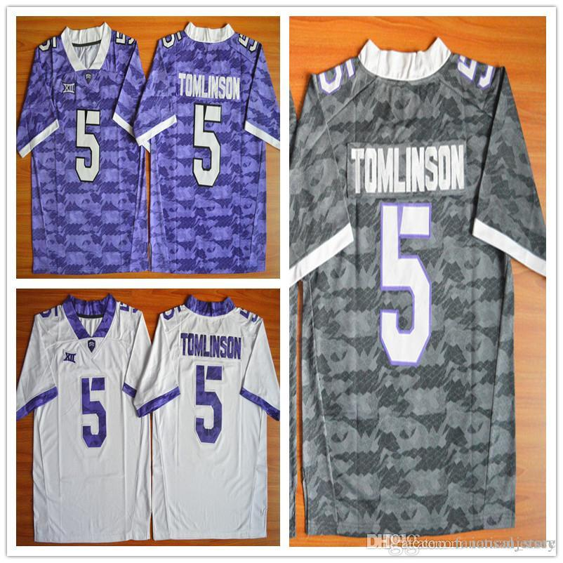 pretty nice ba13f b9460 TCU Horned Frogs Mens Football Jerseys American College 5 LaDainian  Tomlinson Men For Sport Jersey Size S-XXXL