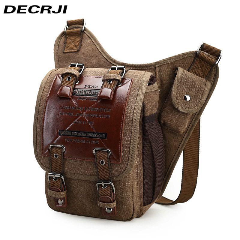 b12a5f0a3ad DECRJI Vintage Canvas Men Crossbody Bags Large Capacity Bolsa Masculina Male  Travel Shoulder Bag Multifunction Men Messenger Bag Leather Backpack Purse  ...