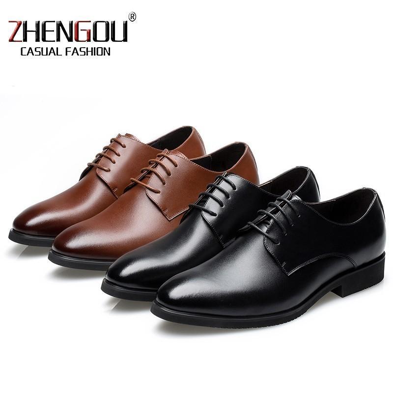 91deb3b8a9 Compre ZHENGOU Hombres PU Zapatos De Cuero Vestido De Negocios Otoño Corbata  Inglaterra Señaló 2788 Hombres De Boda Casual Caucho Meizy Zapatos Hechos A  ...