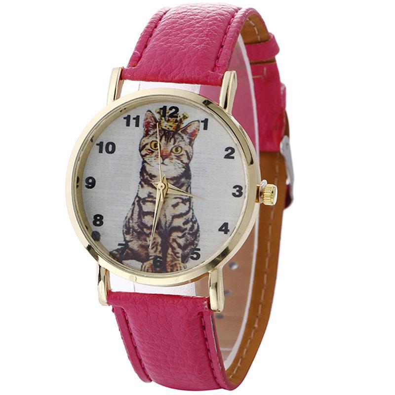 4e502a467414 Compre Un Gato Con Una Corona Reloj De Pulsera Para Mujer Catenaria Mano  Montre Femme Zegarek Damski Damas Reloj Relojes Para Mujer Bayan A  34.1  Del ...