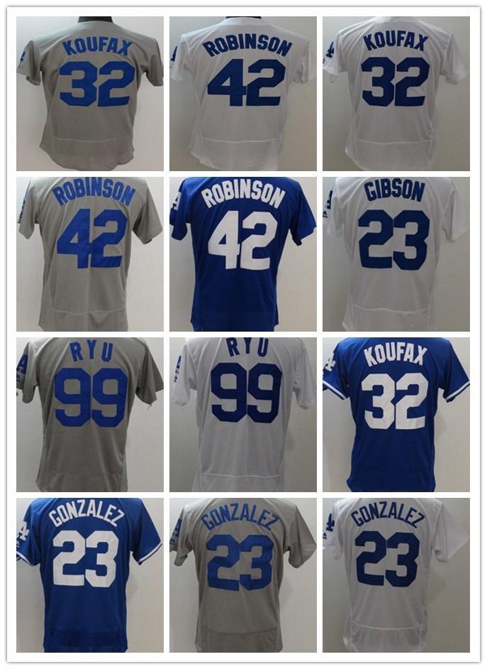 cf58500dd ... official store 2018 dodgers men jerseys 23 adrian gonzalez 32 sandy  koufax 99 hyun jin ryu