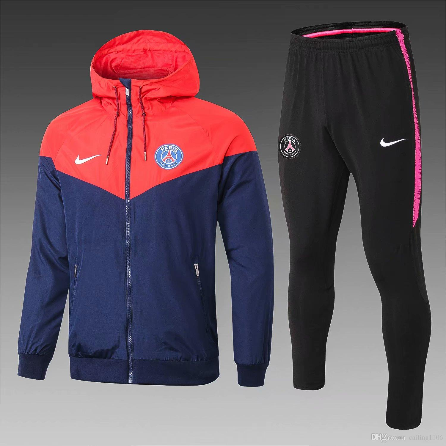 check out bceee 09f12 MC 2018/19 PSG hoodies football clothes Barcelona football shirts 2019  Paris st germain football jacket within PSG omar MBAPPE Survetement