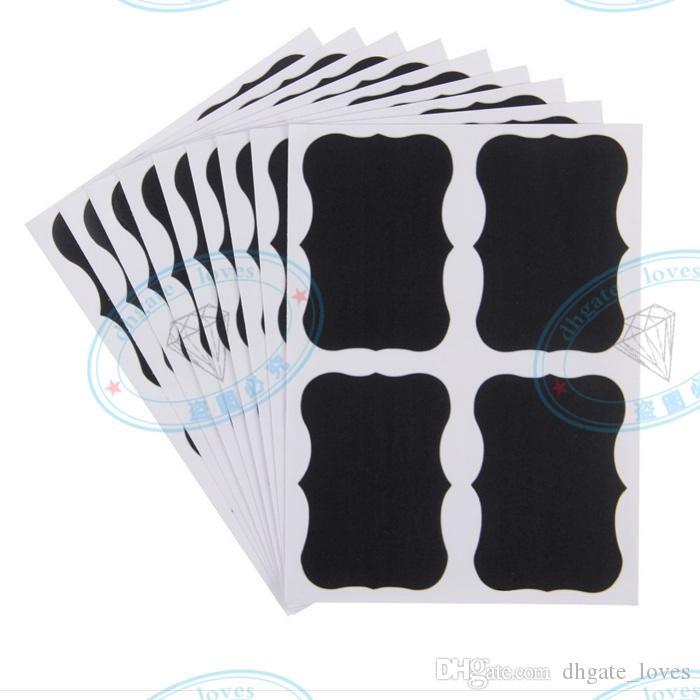 Quadro-negro Etiqueta Giz Caneta Etiquetas Quadros Etiquetas Vinyl Cozinha Geléia Copo De Parede Copo Garrafa Planejador Espelho Decor Decalques Tags 5 cm x 3.5 cm