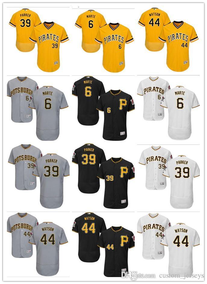 new concept 01f34 cdc05 custom Men women youth Pittsburgh Pirates Jersey #44 Tony Watson 6 Starling  Marte 39 Dave Parker Black Yellow Grey Baseball Jerseys