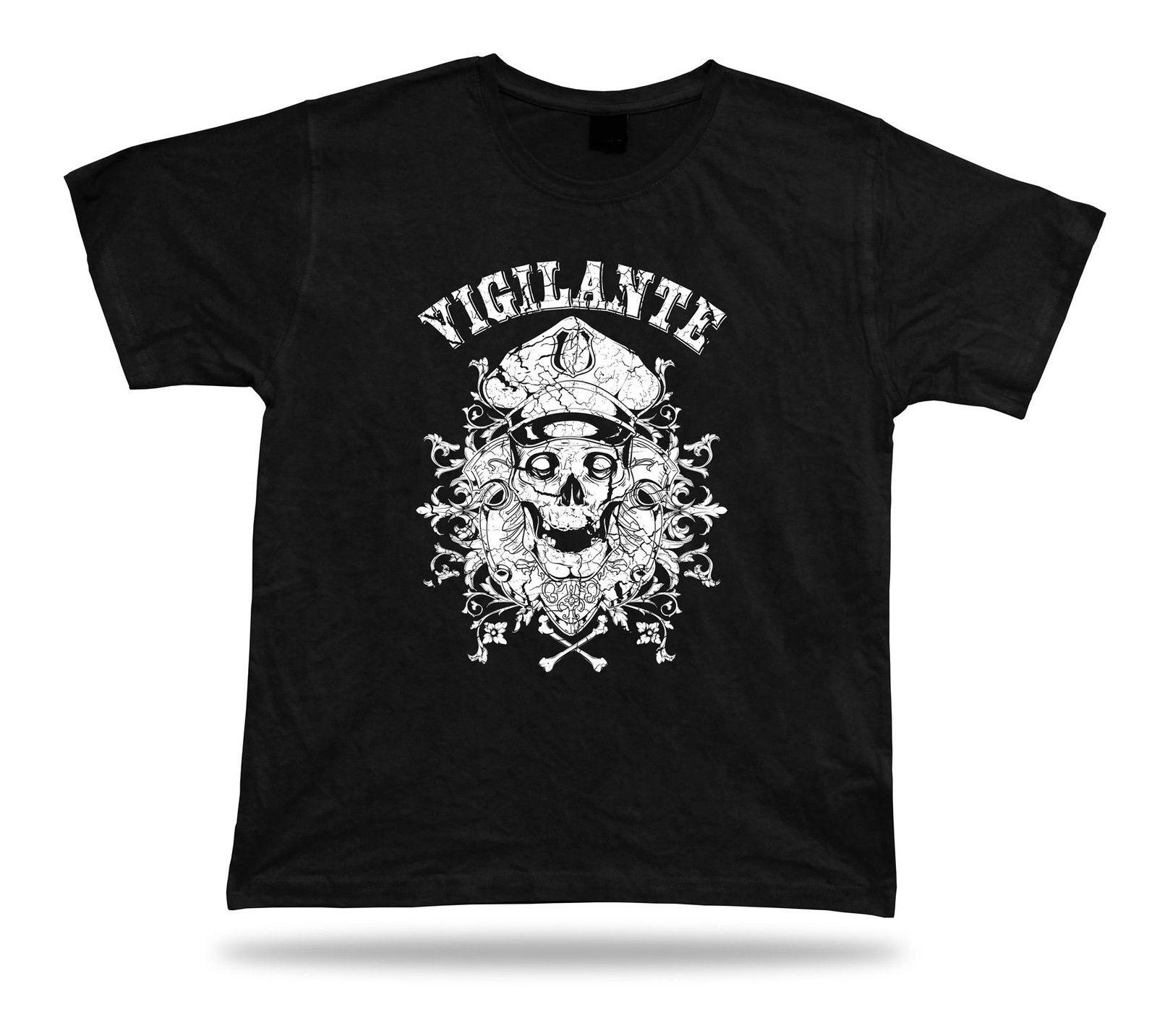 Tshirt Tee Shirt Birthday Gift Idea Vigilante Justice Emblam Skull Death Cop Funny T Designs Make A From Cooltees 1117