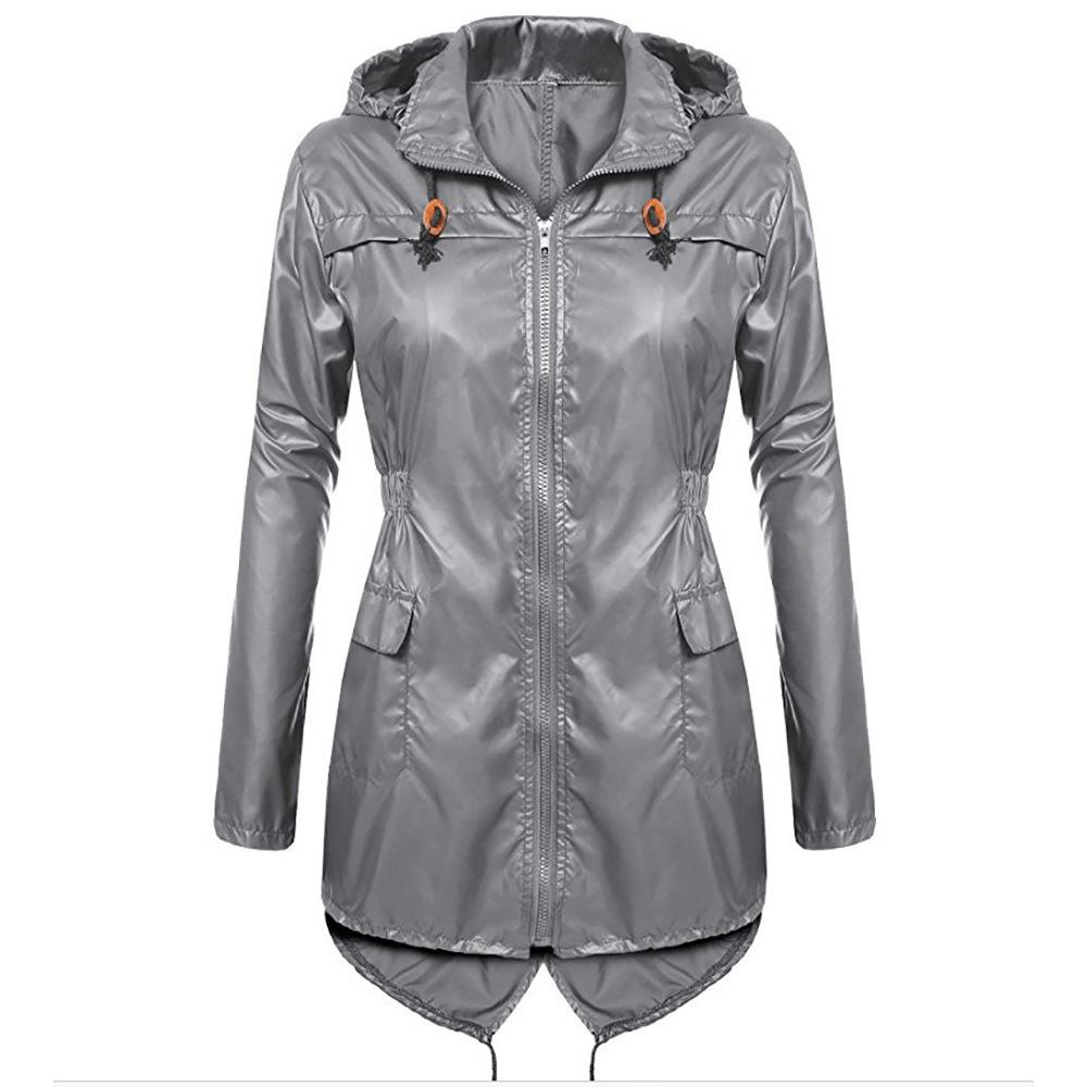 e2cb162fa64 Female Windbreaker Waterproof Trench Coat For Women Winter Coat Outdoor  Fashion Hooded Raincoat Outerwear Women Rain Womens Jackets Winter Jacket  From ...