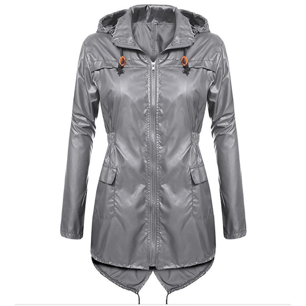 plus récent 54afb f41ba Femme Coupe-vent Imperméable Trench-Coat Pour Femmes Manteau Hiver En Plein  Air À Capuche Imperméable À Capuche Survêtement Femmes Pluie