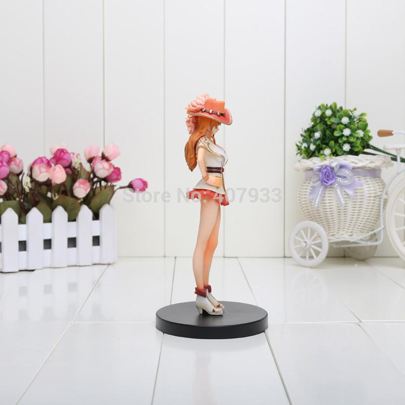 17CM Japanese Animation One Piece Nami Grandline Lady 15th Anniversary PVC Action Figure Model Toy in box