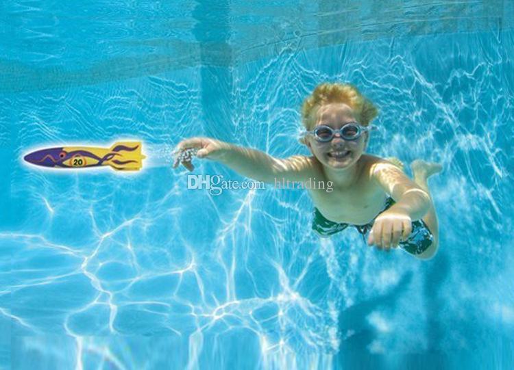 Torpedo Rocket Toy Torpedo Dive Swim Sticks Piscine Baignoire Baignoire Amusant De La Natation Torpille Glisse Sous L'eau Jouet pour Enfants C3815