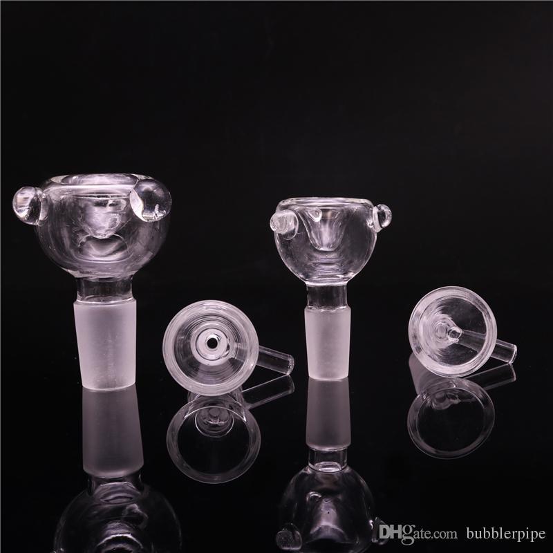 Стекло ashcatcher чаша 18 14 мм мужской чаша для стекла бонг banger чаши толстые форстед pyrex табак чаша для курения водопровод
