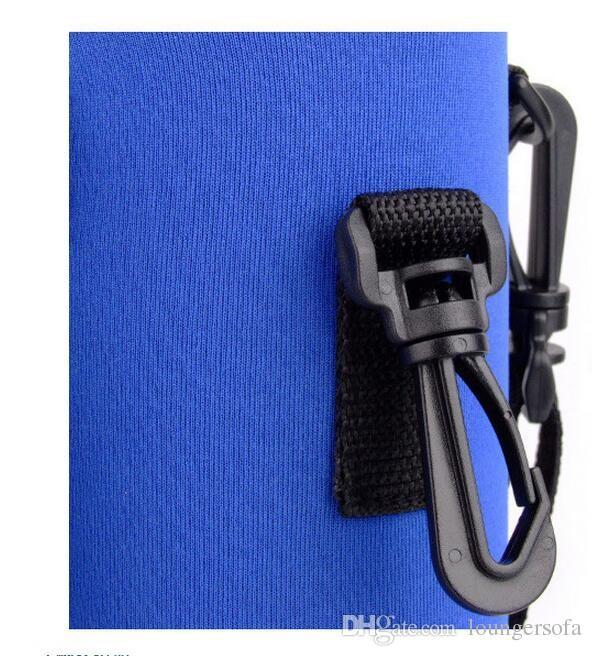 Réutilisable Sport Bouteille D'eau Couverture Isolateur Sac Pochette Pochette Lavable Voyage Bouilloire Cas de Bouteille Pour 1000ML Gadgets D'extérieur 11jy X