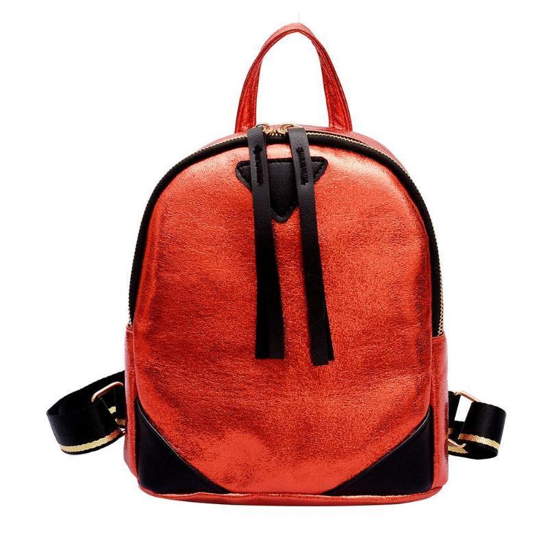 7151cd3ccd Women Girls Pu Leather Burst Crack Mini Shoulder Backpacks Female School Bag  For Teenagers Student Lady Small Backpack Hydration Backpack Womens  Backpacks ...
