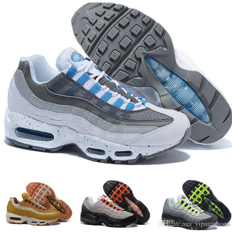 designer fashion 4fed2 1c96e Großhandel Nike Air Max Airmax 95 Vii Pure Money Unc Drop Shipping  Großhandel Top Quarity Laufschuhe Männer Kissen 95 Turnschuhe Stiefel  Authentic A06 New ...