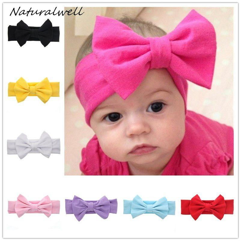 Baby Girls Hair Accessories Head Wrap Messy Bow Knot Headband Fabric  Hairband Newborn Turban Cotton Headwrap Wholesale Mix Baby Girls Hair  Accessories Head ... 3fe8032f27d9