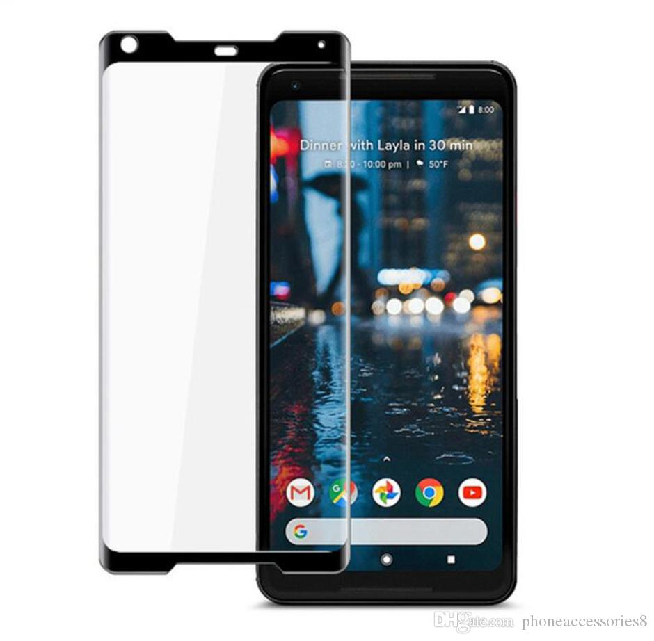 For Google Pixel 2 Pixel2 XL 3D Curved Full Cover Tempered Glass Phone Screen Protector Film For Google Pixel 2xl with retail package