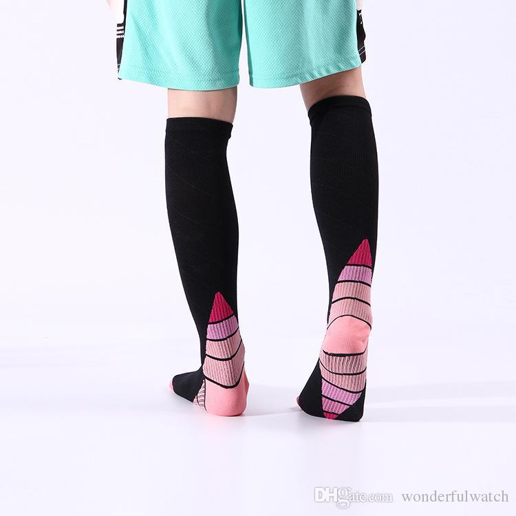 новые мужчины и женщины компрессионные носки градиент циркуляции давления анти-Fatiguu колено высокие ортопедические поддержки чулок AP194