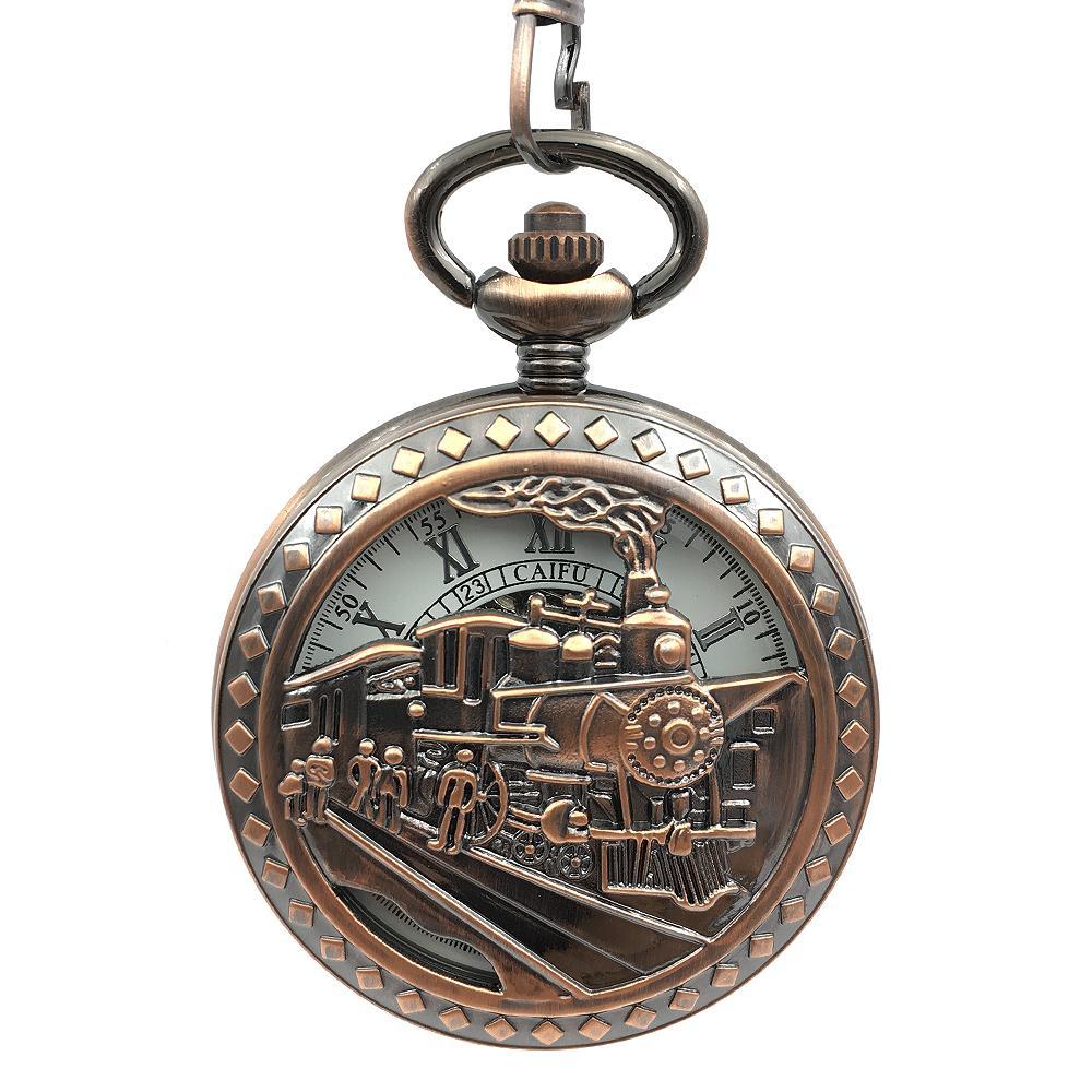 Compre Tom De Cobre Esqueleto Ferroviária Correndo Steam Train Relógio De Bolso  Locomotiva Mão Mecânica De Enrolamento Relógios Mulheres Homens Presente De  ... 9979117a99
