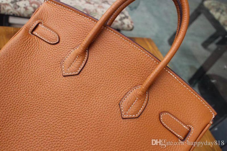fashion women's handbag bag Brown calfskin leather shoulder bag totes come with dustbag